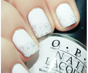 Blanc, white, and nail art image
