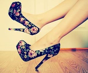 fashion, flower, and high heels image