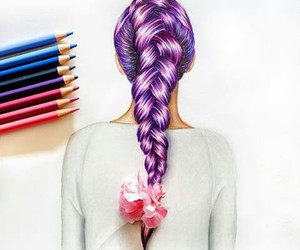 draw, hair, and art image