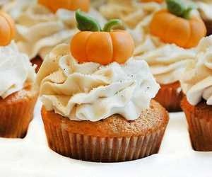 cupcake, pumpkin, and food image