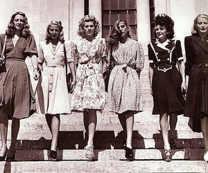 vintage, 40s, and dress image