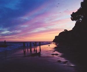 beach, nature, and night image