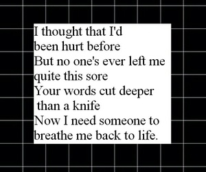 black and Lyrics image