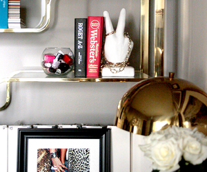 bedroom, book, and decor image
