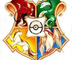 pokemon, hogwarts, and harry potter image