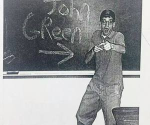author, black and white, and chalkboard image