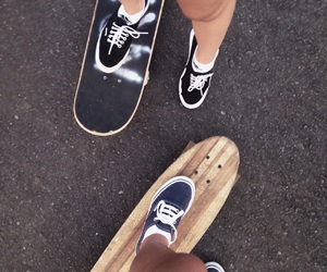 best friend, legs, and skateboard image