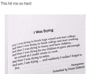 dying and life image