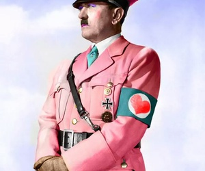 hitler, pink, and funny image