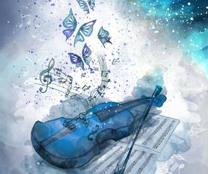 violin, music, and art image