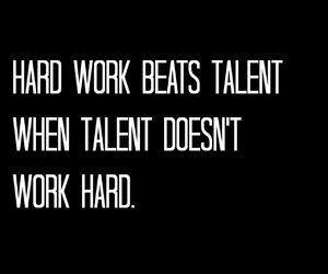 hard work, inspiration, and talent image