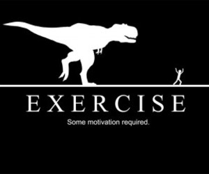 exercise, motivation, and funny image