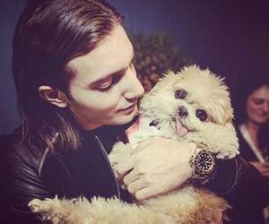 dj, puppy, and man image