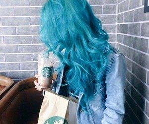 starbucks, girl, and hair image