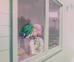lesbian, anime, and kiss image