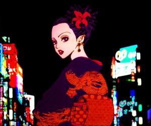 anime, geisha, and girl image
