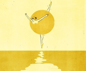 yellow, art, and ballet image