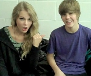 Taylor Swift and justin bieber image