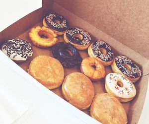food, candy, and donuts image