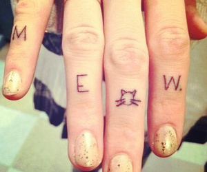 tattoo, cat, and meow image