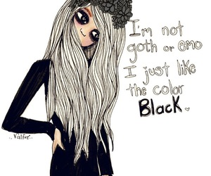 black, emo, and goth image