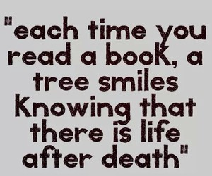 book, quote, and tree image