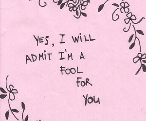 love, quotes, and fool image