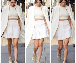 skirt, sneakers, and kendall jenner image
