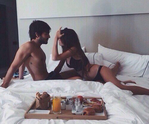 breakfast, couple, and morning image
