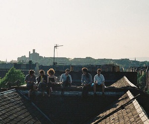 friends, roof, and boy image