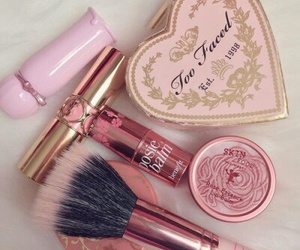 makeup, pink, and too faced image