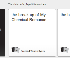 mcr and cards against humanity image