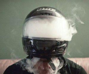 smoke, weed, and helmet image