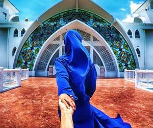 hijab, follow me, and love image