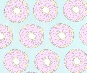 cool, duvar kağıdı, and donut image