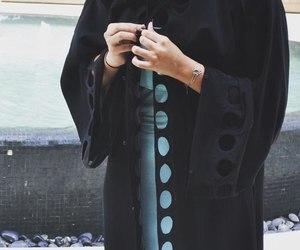 fashion, abaya, and hijab image