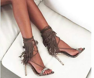 beige, print, and sandals image