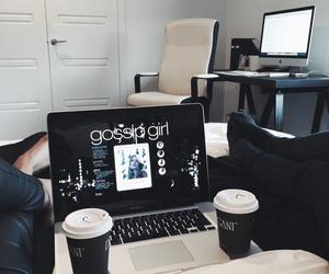 gossip girl, coffee, and black image