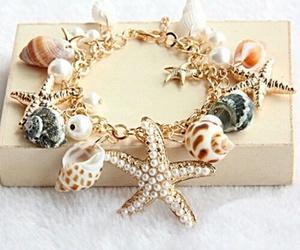 bracelet, shell, and beach image