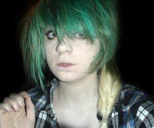 blonde, girl, and green image