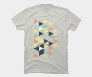 retro, tee, and triangles image