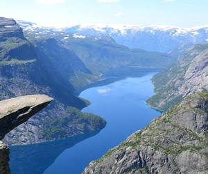landscape, fjords, and mountains image