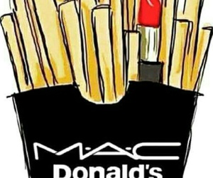 mac, lipstick, and food image