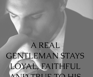 black and white, gentleman, and quote image