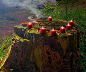 candle, wicca, and magic image
