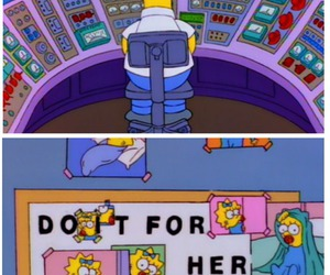 adorable, the simpsons, and father & daughter image