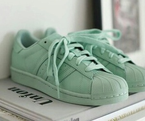 adidas, green, and sneaker image