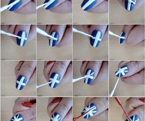 nails, diy, and flag image