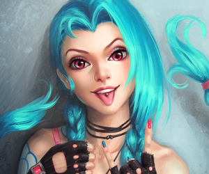 jinx, league of legends, and game image