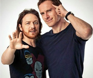 james mcavoy, michael fassbender, and x-men image